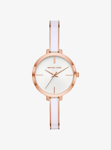 Jaryn Rose Gold Tone And Acetate Watch Michael Kors
