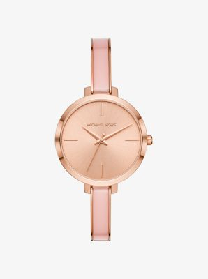 마이클 코어스 시계 Michael Kors Jaryn Rose Gold-Tone and Acetate Watch,ROSE GOLD
