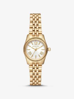 마이클 코어스 시계 Michael Kors Petite Lexington Gold-Tone Watch,GOLD