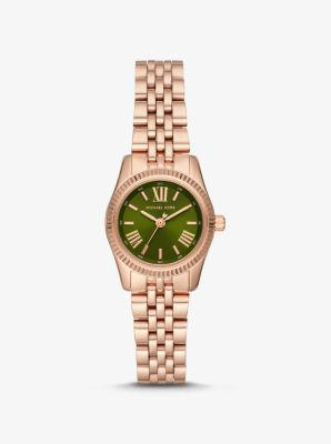 마이클 코어스 시계 Michael Kors Petite Lexington Rose Gold-Tone Watch,ROSE GOLD