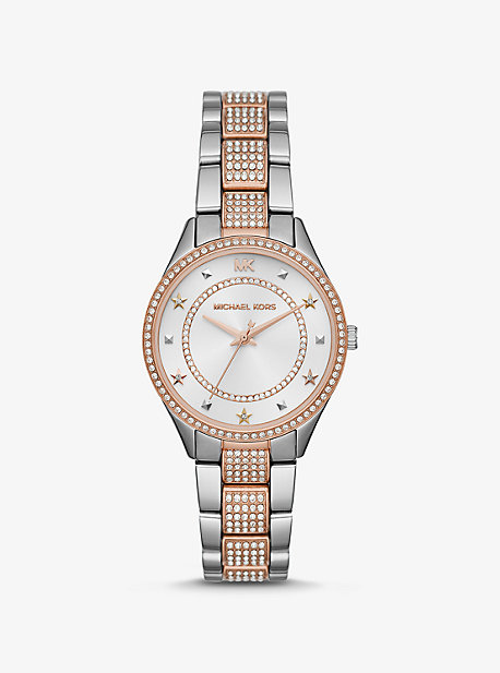 d3609701ecac Mini Lauryn Pavé Two-Tone Watch