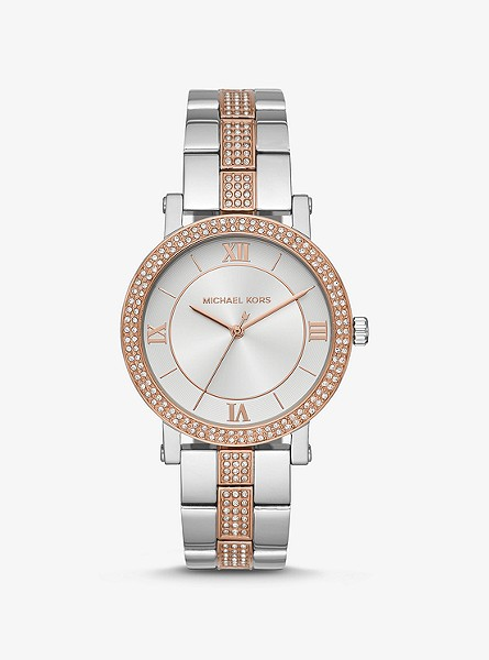 Norie Pavé Two-Tone Watch