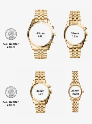 Jaryn Rose Gold-tone Padlock Bracelet Watch | Michael Kors
