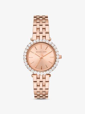 마이클 코어스 시계 Michael Kors Darci Pave Rose Gold-Tone Watch,ROSE GOLD