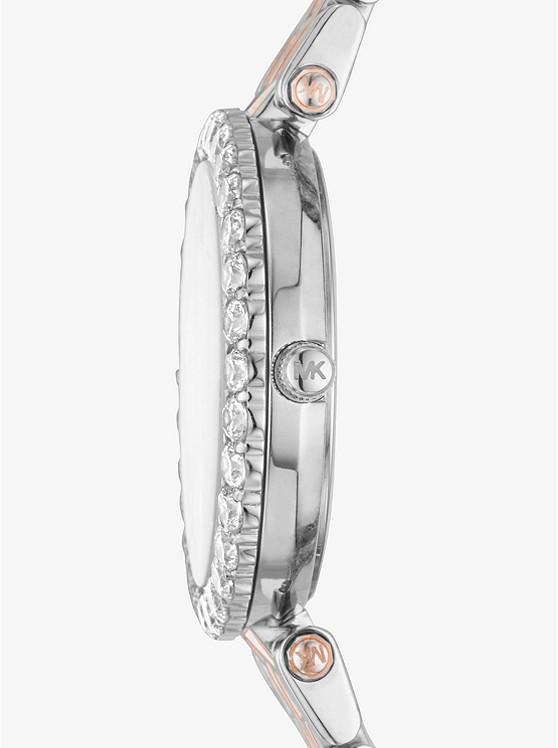 Zweifarbige Armbanduhr Darci Mit Pavé fassung   Michael Kors