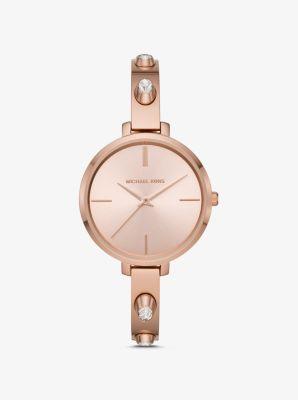 마이클 코어스 시계 Michael Kors Jaryn Studded Rose Gold-Tone Watch,ROSE GOLD