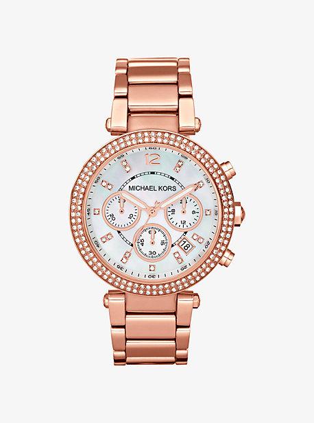 마이클 코어스 Michael Kors Parker Rose Gold-Tone Watch,ROSE GOLD