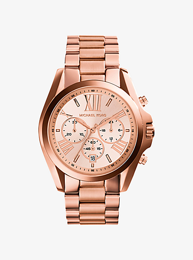 QUICKVIEW �� michael kors �� Oversized Bradshaw Rose Gold-Tone Watch ��  $250.00$250.00