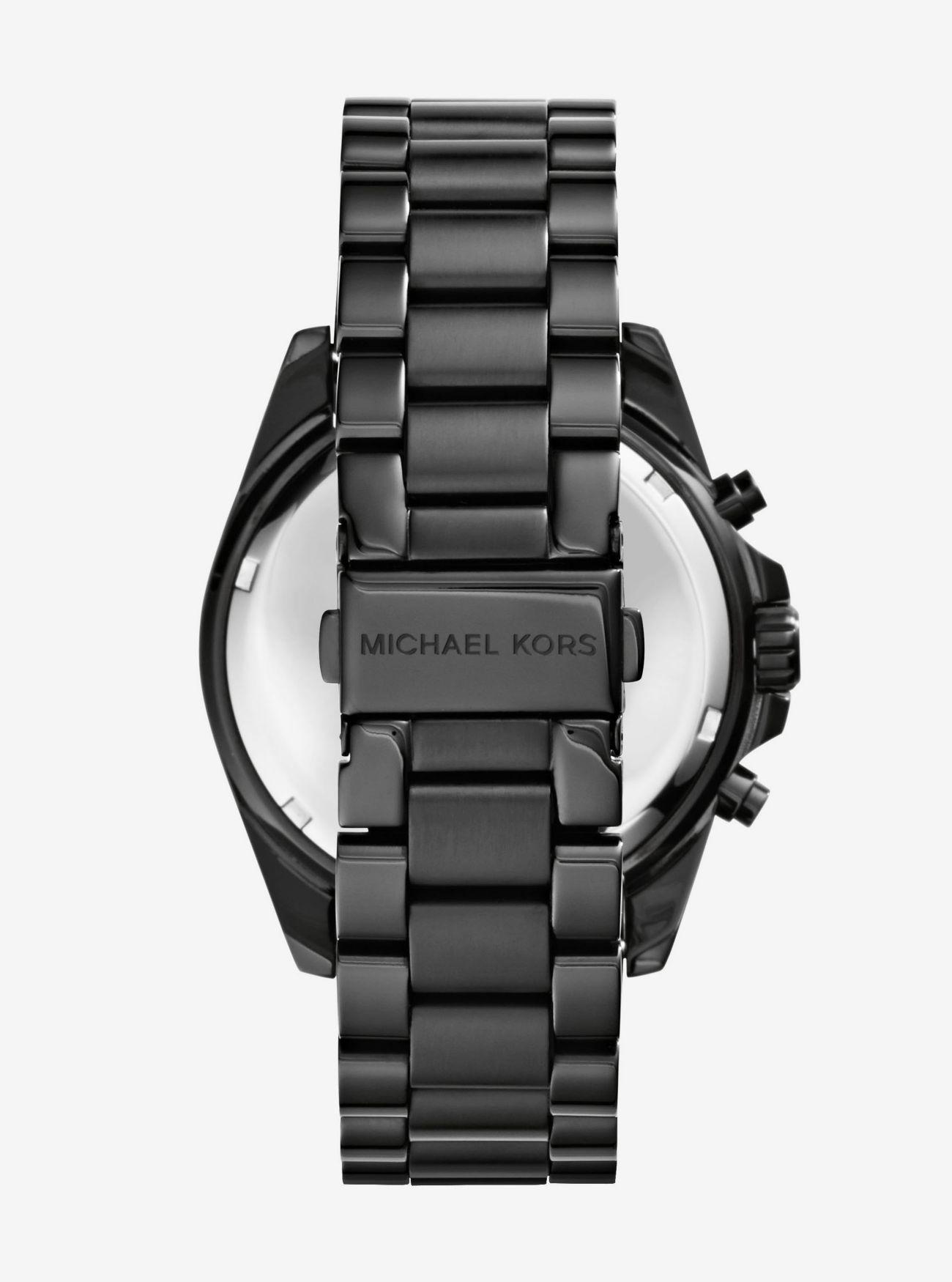 f49a727f700b ... Oversized Bradshaw Black-Tone Watch Oversized Bradshaw Black-Tone Watch  Oversized Bradshaw Black-Tone Watch. MICHAEL KORS