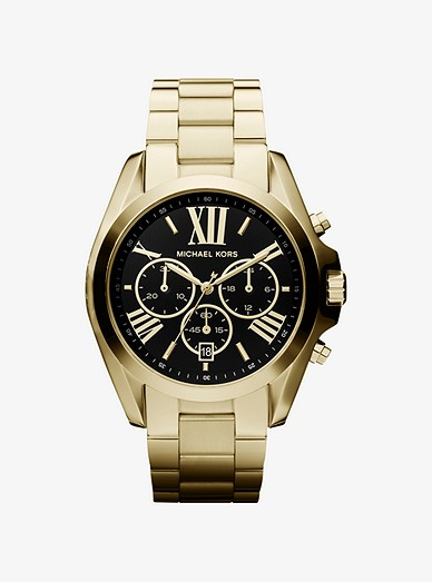 ecb80a288c47 Oversized Bradshaw Gold-tone Watch