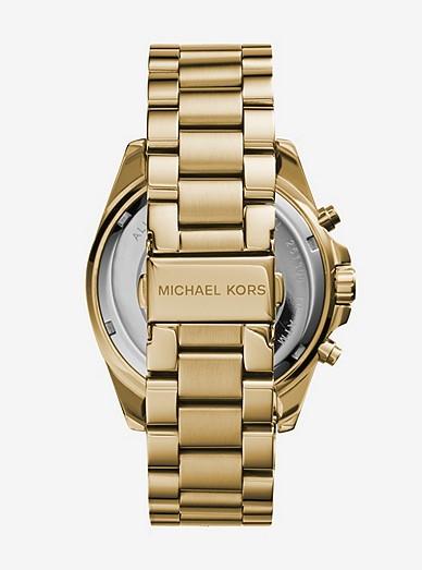 748547bdd Oversized Bradshaw Gold-tone Watch | Michael Kors