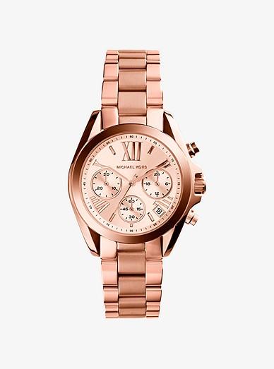 Bradshaw Rose Gold Tone Watch Michael Kors