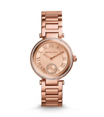 Skylar Rose GoldTone Bracelet Watch Michael Kors