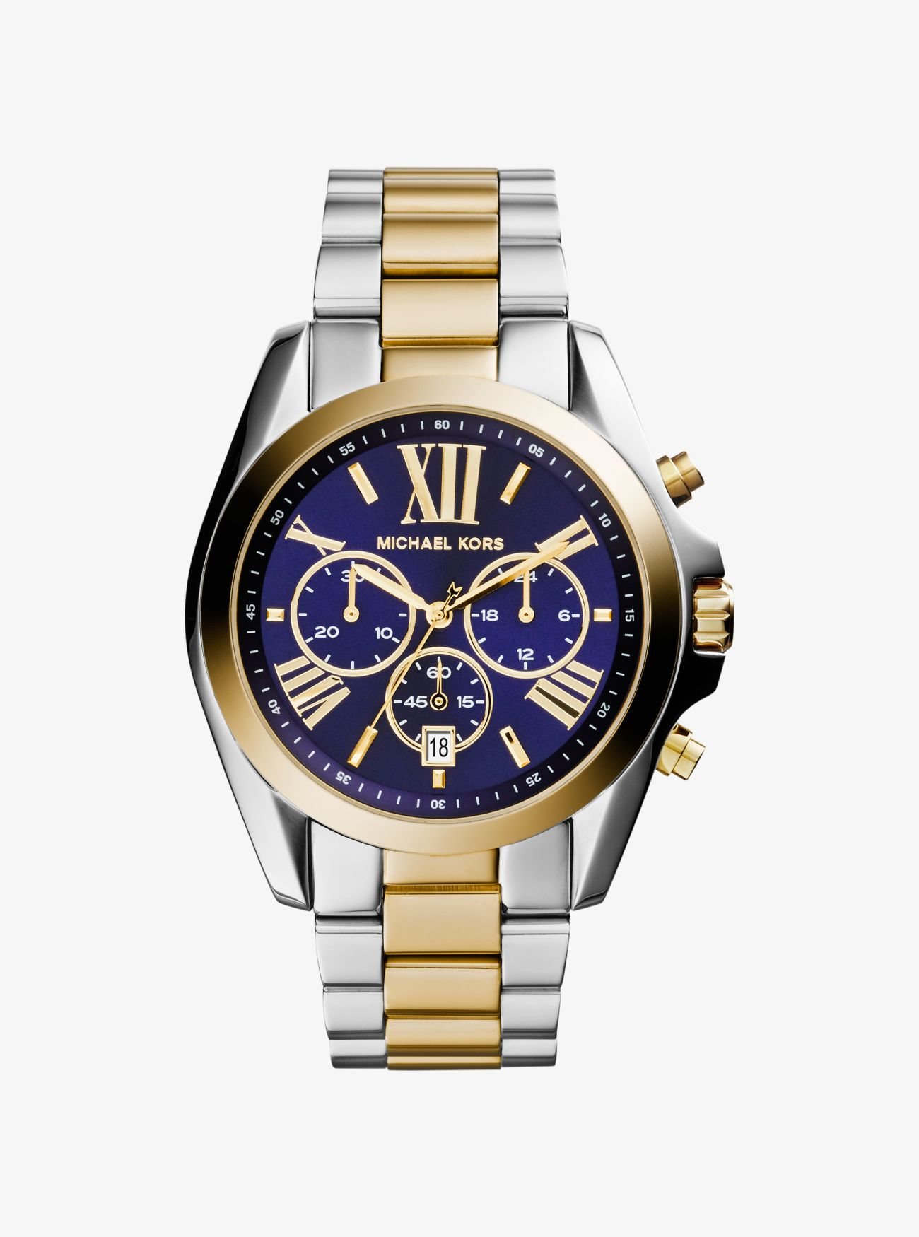 100% quality best shoes wholesale price Reloj Bradshaw oversize en dos tonos