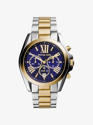 tone bradshaw chronograph watches black catalog dial products kors michael rose watch