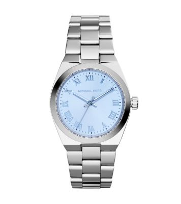 3e17ae477291 Channing Blue-Dial Silver-Tone Watch