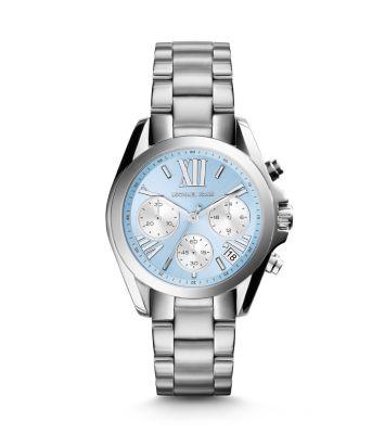 d31d35ebceeb Bradshaw Blue-Dial Silver-Tone Watch