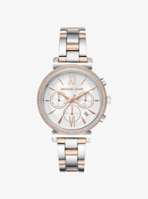 마이클 코어스 시계 Michael Kors Sofie Pave Two-Tone Watch,TWO TONE