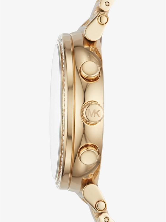 Sofie Pave Gold Tone Watch Michael Kors