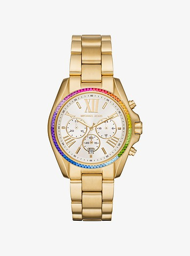 b3b4bdd7ba64 Oversized Bradshaw Rainbow Pavé Gold-tone Watch