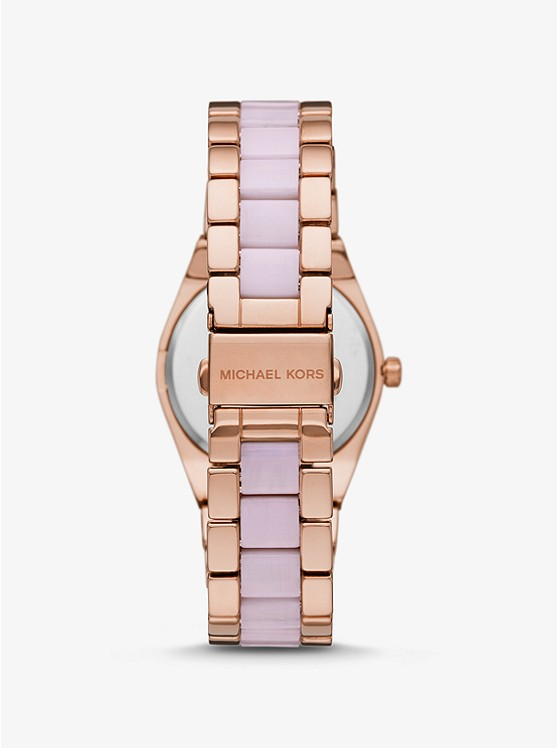 9398f2aa5c56 Channing Rose Gold-tone And Acetate Watch