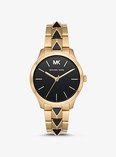 a95c0b09600f Reloj Runway Mercer en tono dorado y ónix. michael kors ...