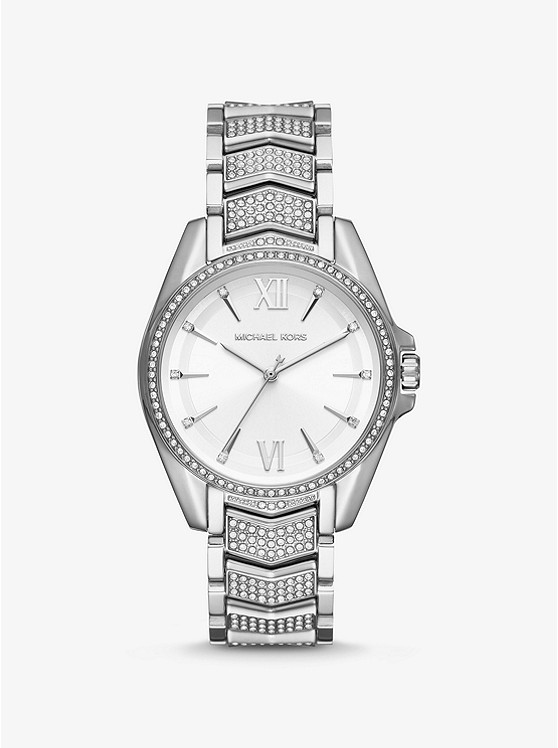 Whitney Pavé Silver Tone Watch by Michael Kors