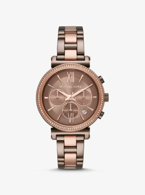 michael kors 2 tone watches