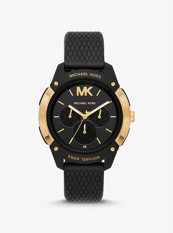 half off 100% high quality new product Ryder Embossed Silicone And Gold-tone Watch | Michael Kors