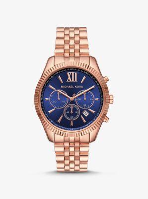 마이클 코어스 시계 Michael Kors Lexington Rose Gold-Tone Watch,ROSE GOLD