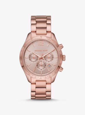 마이클 코어스 시계 Michael Kors Oversized Layton Pale Rose Gold-Tone Watch,ROSE GOLD