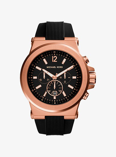 b3c7163245740 Oversized Dylan Rose Gold-tone And Silicone Watch