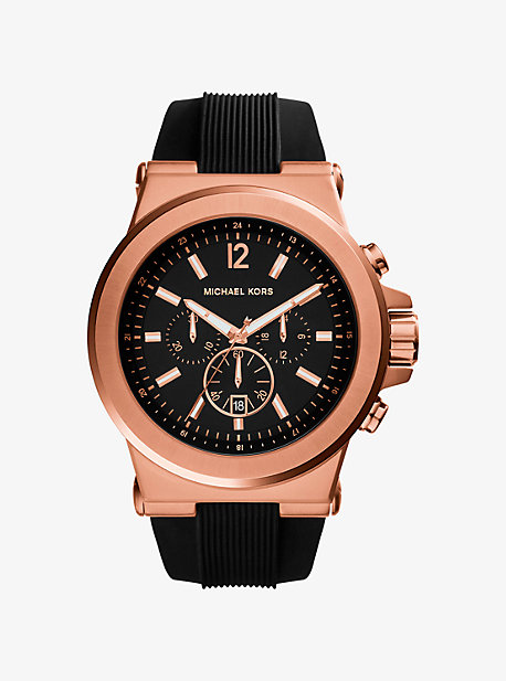 8b55ed355f6 Oversized Dylan Rose Gold-tone And Silicone Watch