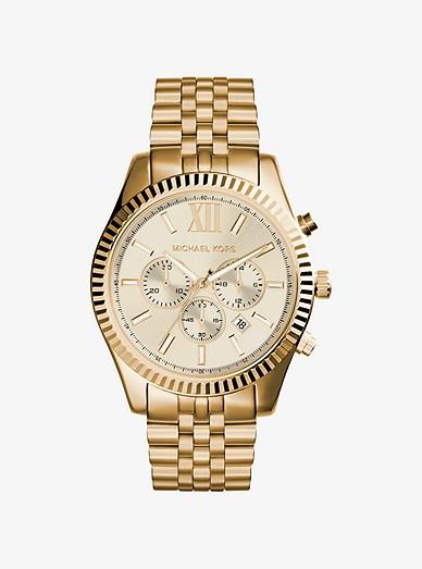 Lexington Gold Tone Watch