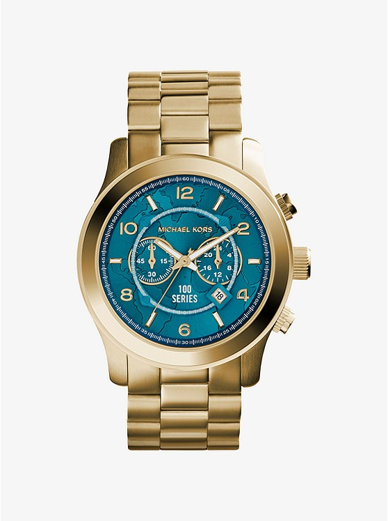 Watch hunger stop oversized runway gold tone stainless steel watch watch hunger stop oversized runway gold tone stainless steel watch gumiabroncs Images