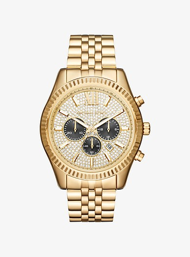 8df63b9eba59b Oversized Lexington Gold-tone Watch