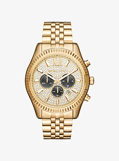 29055077fd5d Oversized Lexington Gold-tone Watch