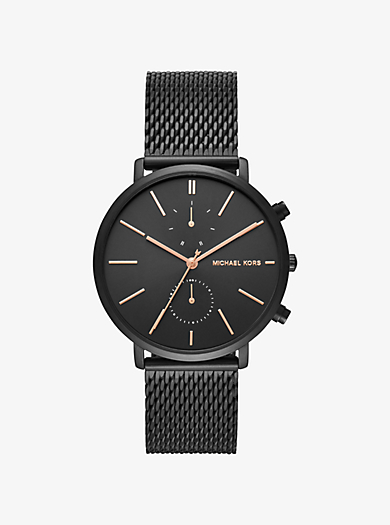 michael kors �� Slim Runway Black-Tone Stainless Steel Watch ��  $195.00$195.00 �� QUICKVIEW