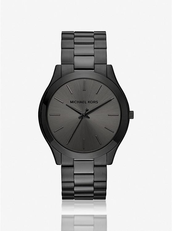 Slim Runway Black-Tone Stainless Steel Watch