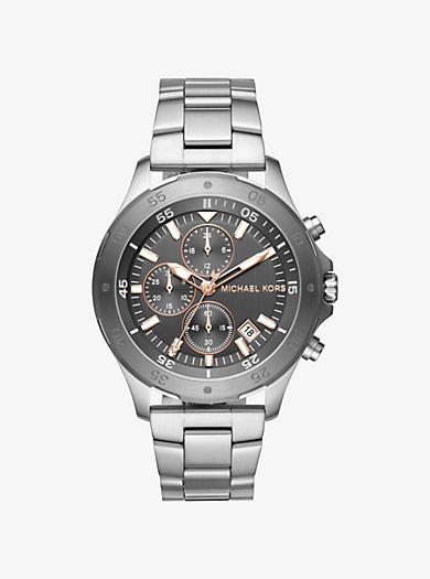 silver watches men michael kors walsh silver tone watch · michael kors