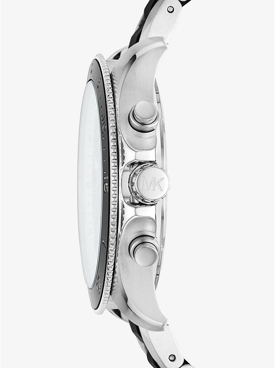 a085e55f440 Theroux Silver-tone And Silicone Watch | Michael Kors