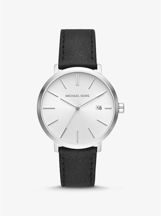 5fd97f0eb116 Blake Silver-tone And Leather Watch