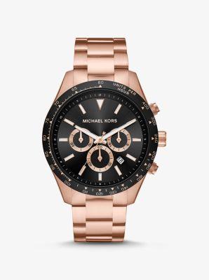 마이클 코어스 시계 Michael Kors Oversized Layton Rose Gold-Tone Watch,ROSE GOLD