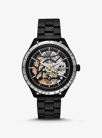 ac66392f4445c1 Oversized Merrick Black-tone Watch | Michael Kors