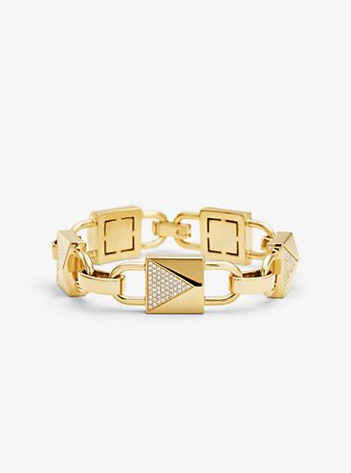65b6f0080436 Pulsera Mercer Link grande de plata de ley con chapado en oro de 14 K e