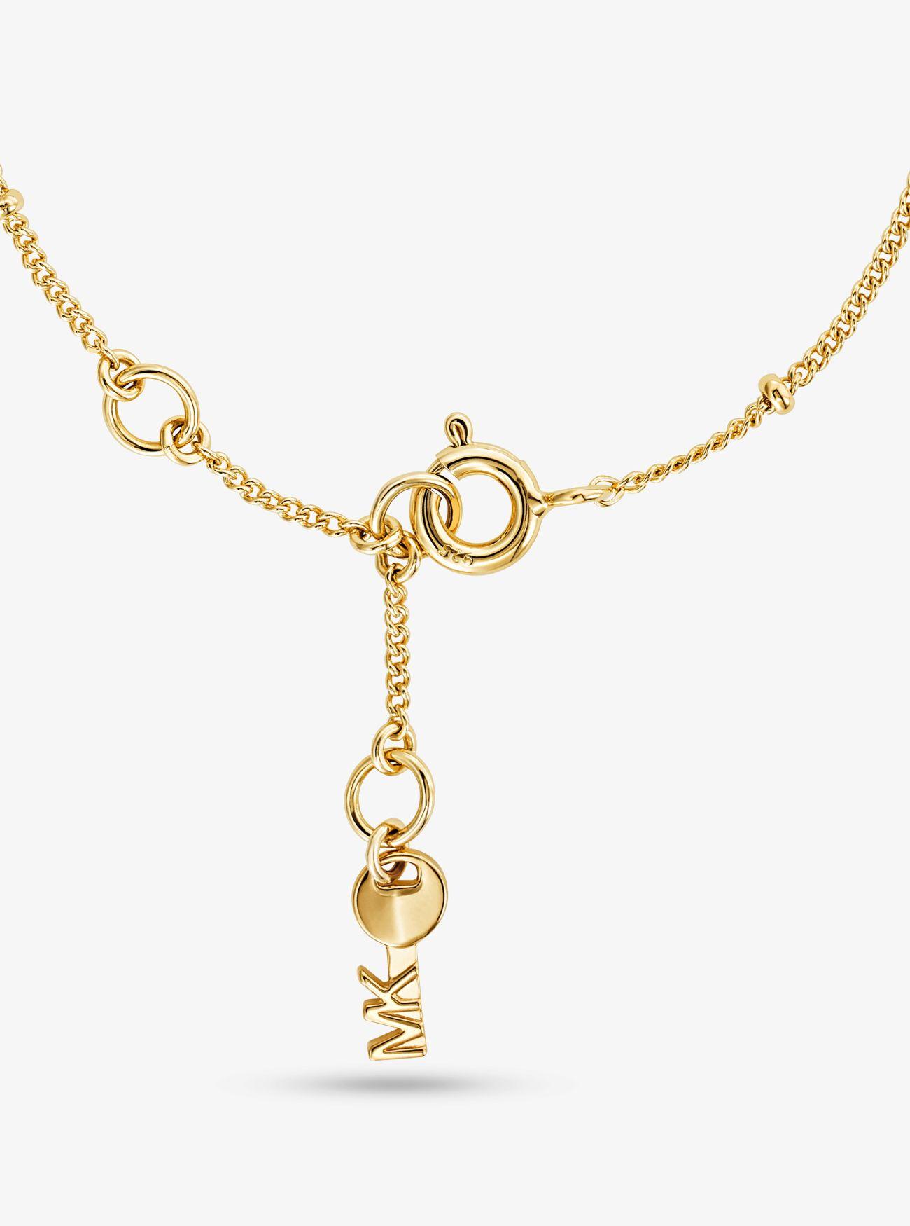f793f3416d6e Pulsera con candado de plata de ley con chapado en oro de 14 K