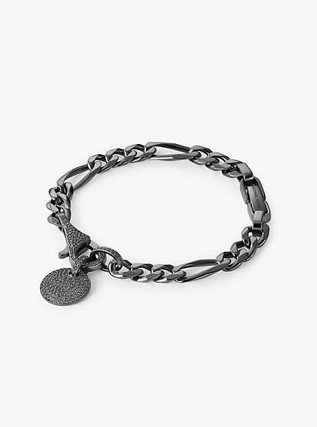 8a9fd2b94 Black Rhodium-Plated Sterling Silver Pavé Disk Bracelet
