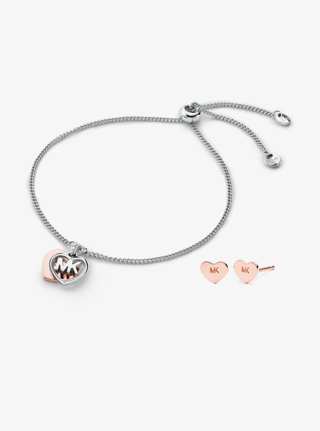 Michael Kors MK Hart Geschenkset aus Sterlingsilber • Silber