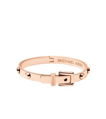 astor rose gold tone buckle bangle michael kors. Black Bedroom Furniture Sets. Home Design Ideas