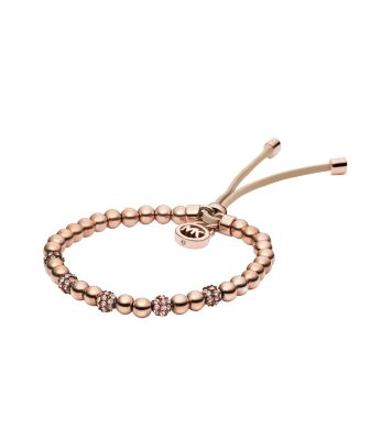 Rose GoldTone Bead Stretch Bracelet Michael Kors